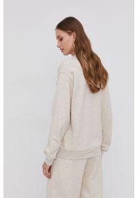 Samsoe & Samsoe - Samsoe Samsoe - Bluza bawełniana. Kolor: beżowy. Materiał: bawełna. Długość rękawa: długi rękaw. Długość: długie
