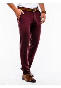 Czerwone spodnie Ombre Clothing klasyczne