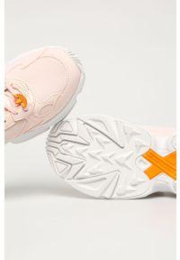Różowe buty sportowe adidas Originals z cholewką, na średnim obcasie