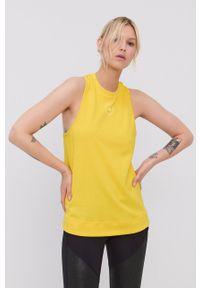Adidas by Stella McCartney - adidas by Stella McCartney - Top. Okazja: na co dzień. Kolor: żółty. Materiał: bawełna, dzianina, poliester. Długość rękawa: na ramiączkach. Wzór: nadruk. Styl: casual