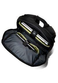 Czarny plecak na laptopa KENSINGTON w paski
