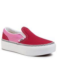 Vans Tenisówki Classic Slip-On P VN0A3TL1WVX1 Czerwony. Zapięcie: bez zapięcia. Kolor: czerwony. Model: Vans Classic