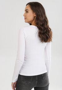 Biała bluzka z długim rękawem Born2be
