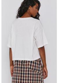 Pepe Jeans - T-shirt bawełniany Patrice. Kolor: biały. Materiał: bawełna. Wzór: nadruk