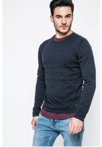 Niebieski sweter PRODUKT by Jack & Jones casualowy, na co dzień, z okrągłym kołnierzem
