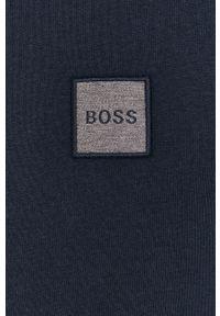 BOSS - Boss - T-shirt bawełniany. Okazja: na co dzień. Kolor: niebieski. Materiał: bawełna. Styl: casual