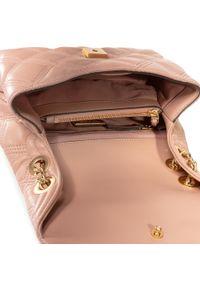 Różowa torebka klasyczna Tory Burch klasyczna