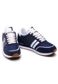 Trussardi Jeans - Sneakersy TRUSSARDI - 77A00342 U290. Kolor: niebieski. Materiał: zamsz, materiał, skóra ekologiczna. Szerokość cholewki: normalna