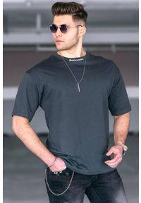 Szary t-shirt IVET casualowy, na co dzień