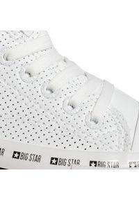 Big-Star - Trampki BIG STAR - FF274024 White. Kolor: biały. Materiał: skóra ekologiczna, materiał, guma. Szerokość cholewki: normalna. Obcas: na płaskiej podeszwie