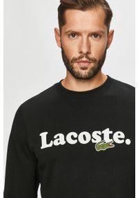 Czarna bluza nierozpinana Lacoste z okrągłym kołnierzem, na co dzień