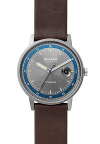 Skagen - Zegarek SKW6753. Kolor: srebrny. Materiał: skóra, materiał