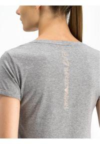 EA7 Emporio Armani T-Shirt 6GTT04 TJ28Z 3905 Szary Slim Fit. Kolor: szary