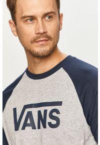 Szara koszulka z długim rękawem Vans z nadrukiem #5