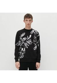 Reserved - Bluza z nadrukiem - Czarny. Kolor: czarny. Wzór: nadruk