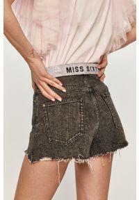 Miss Sixty - Szorty jeansowe. Kolor: szary. Materiał: jeans. Wzór: gładki