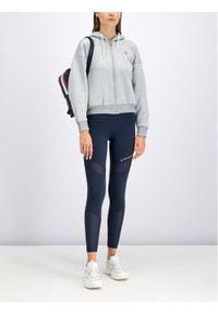 Tommy Sport Bluza Fleece Zip-Up S10S100359 Szary Oversize. Kolor: szary. Styl: sportowy