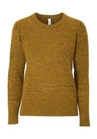 Brązowy sweter Soyaconcept melanż