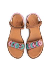 Brązowe sandały Froddo z aplikacjami