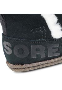sorel - Botki SOREL - Nakiska Bootie NL3389 Black/Natural 010. Kolor: czarny. Materiał: skóra, zamsz. Szerokość cholewki: normalna. Sezon: zima, jesień. Styl: elegancki