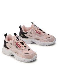 Różowe buty sportowe Fila z cholewką, na co dzień