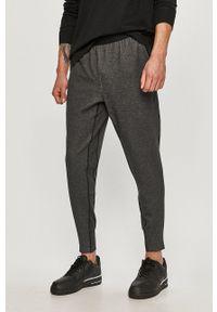 Nike - Spodnie. Kolor: szary. Materiał: dzianina, materiał, włókno