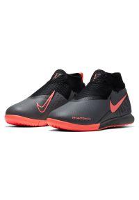 Buty dla dzieci halowe Nike Phantom Vision Academy AO3290. Materiał: skóra, materiał, syntetyk. Szerokość cholewki: normalna. Sport: piłka nożna