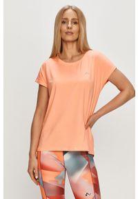 Only Play - T-shirt. Okazja: na co dzień. Kolor: pomarańczowy. Materiał: elastan, dzianina, poliester. Wzór: gładki. Styl: casual #1