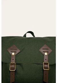 Doughnut - Plecak American Vintage Cordura. Kolor: zielony. Wzór: paski. Styl: vintage