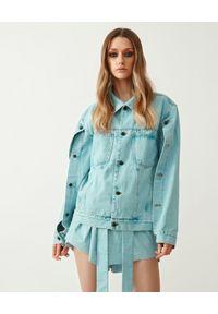 MMC STUDIO - Jeansowa kurtka z rozpinanymi rękawami Point. Kolor: niebieski. Materiał: jeans. Długość rękawa: długi rękaw. Długość: długie