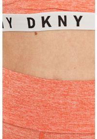 Różowe legginsy DKNY z nadrukiem, z podwyższonym stanem