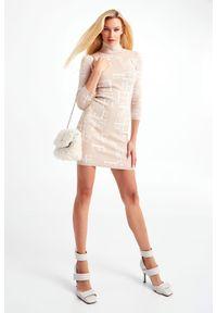 Elisabetta Franchi - SUKIENKA ELISABETTA FRANCHI. Typ kołnierza: golf. Typ sukienki: proste, dopasowane. Długość: mini