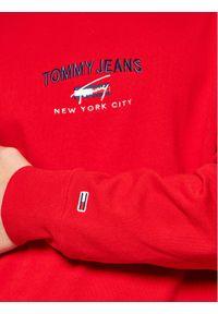 Tommy Jeans Bluza Tjm Timeless DM0DM10193 Czerwony Regular Fit. Kolor: czerwony