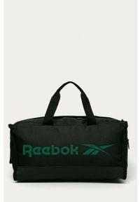 Czarna torba Reebok z nadrukiem