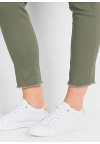 Spodnie ciążowe, dł. do kostki bonprix oliwkowy. Kolekcja: moda ciążowa. Kolor: zielony