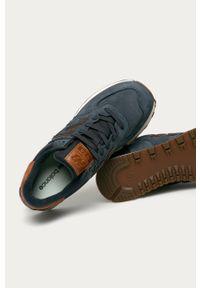 Niebieskie sneakersy New Balance z cholewką, New Balance 574, na sznurówki