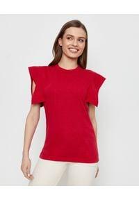 ISABEL MARANT - Czerwony t-shirt Zelipa. Kolor: czerwony. Materiał: bawełna