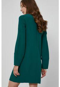 Victoria Victoria Beckham - Sukienka. Okazja: na co dzień. Kolor: zielony. Materiał: tkanina. Typ sukienki: proste. Styl: casual