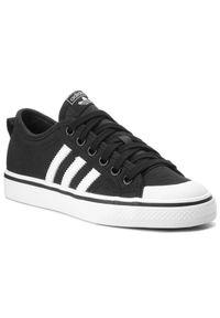 Adidas - Buty adidas - Nizza CQ2332 Cblack/Ftwwht/Ftwwht. Zapięcie: pasek. Kolor: czarny. Materiał: materiał, skóra. Szerokość cholewki: normalna. Wzór: paski. Styl: elegancki