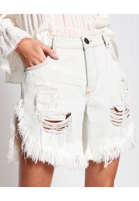 ONETEASPOON - Białe spodenki Frankies Low Waist. Stan: obniżony. Kolor: biały. Materiał: bawełna, jeans