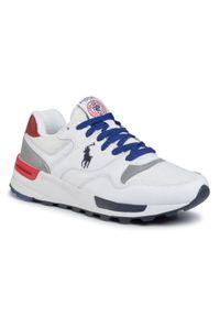 Białe sneakersy Polo Ralph Lauren na co dzień, z cholewką