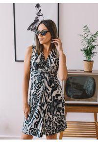 Szara sukienka Fanaberia.com elegancka, na lato