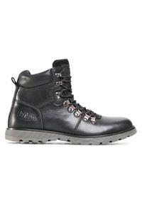 Czarne buty zimowe Lee Cooper casualowe, z cholewką, na co dzień