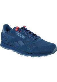 Niebieskie sneakersy Reebok z cholewką, w kolorowe wzory