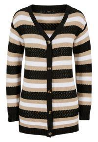 Czarny sweter bonprix w paski