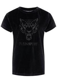 Czarny t-shirt Plein Sport sportowy