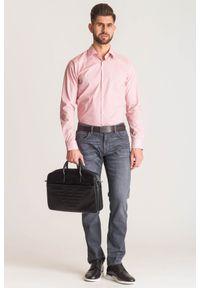 Różowa koszula Joop! Collection na co dzień, na lato, casualowa