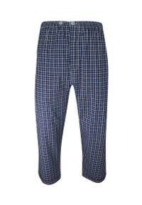 ForMax - Piżama Bawełniana Cienka, Czerwono-Granatowa Dwuczęściowa Koszula Długi Rękaw, Długie Spodnie FORMAX. Kolor: niebieski, czerwony, wielokolorowy. Materiał: bawełna. Długość: długie