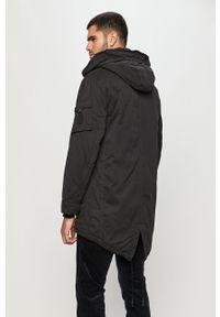 Czarna kurtka Pepe Jeans casualowa, na co dzień, z kapturem