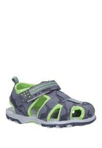 Casu - szare sandały na rzep casu jf15. Zapięcie: rzepy. Kolor: szary